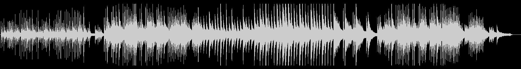 哀しい雰囲気のピアノソロの未再生の波形