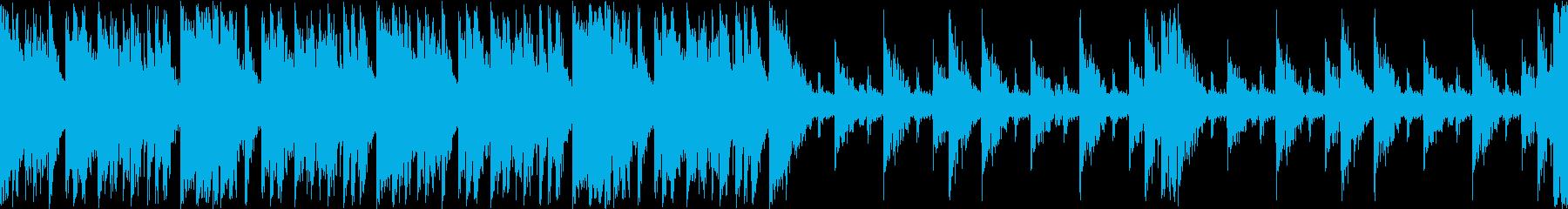マップ画面・火山・単調ループ・太鼓の再生済みの波形