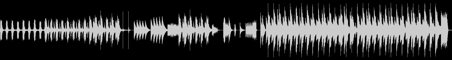 ピタゴラスイッチ風のコミカルなBGMの未再生の波形