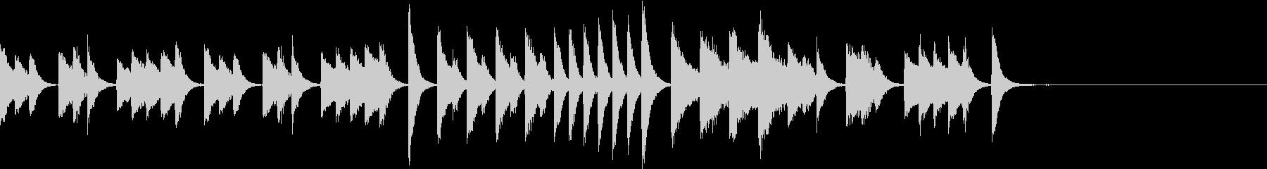 可愛いらしくひょうきんなピアノジングルの未再生の波形