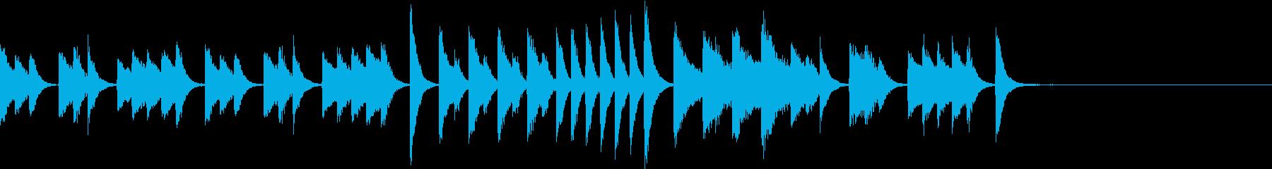 可愛いらしくひょうきんなピアノジングルの再生済みの波形