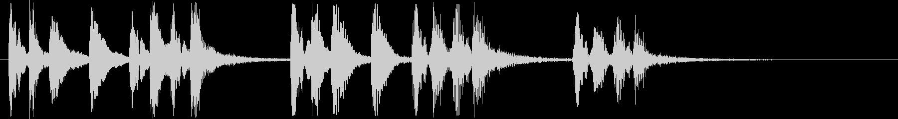 明るい弾みのあるピアノの効果音の未再生の波形