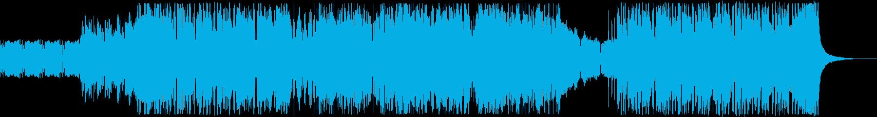 ブラスがメインのファンキーなBGMの再生済みの波形