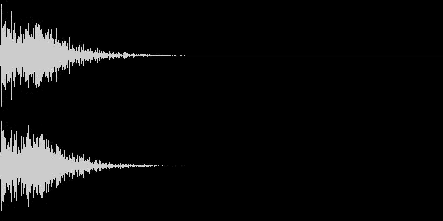 ドシュン!(SF的なインパクト音)の未再生の波形