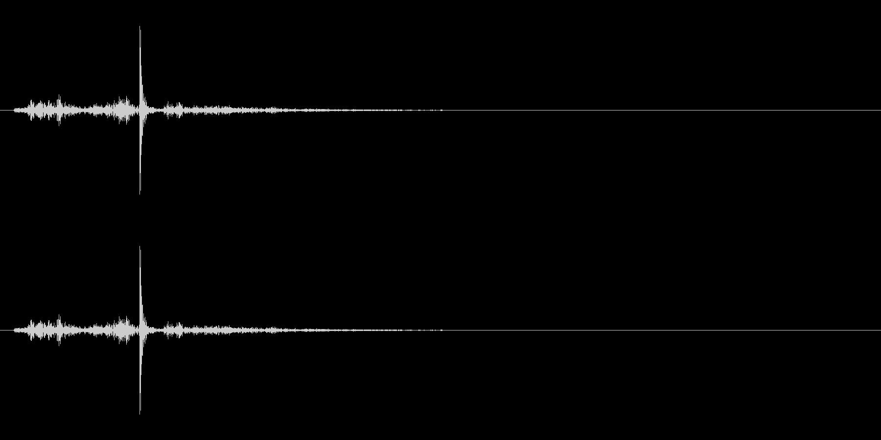【生録音】ハサミの音 2の未再生の波形
