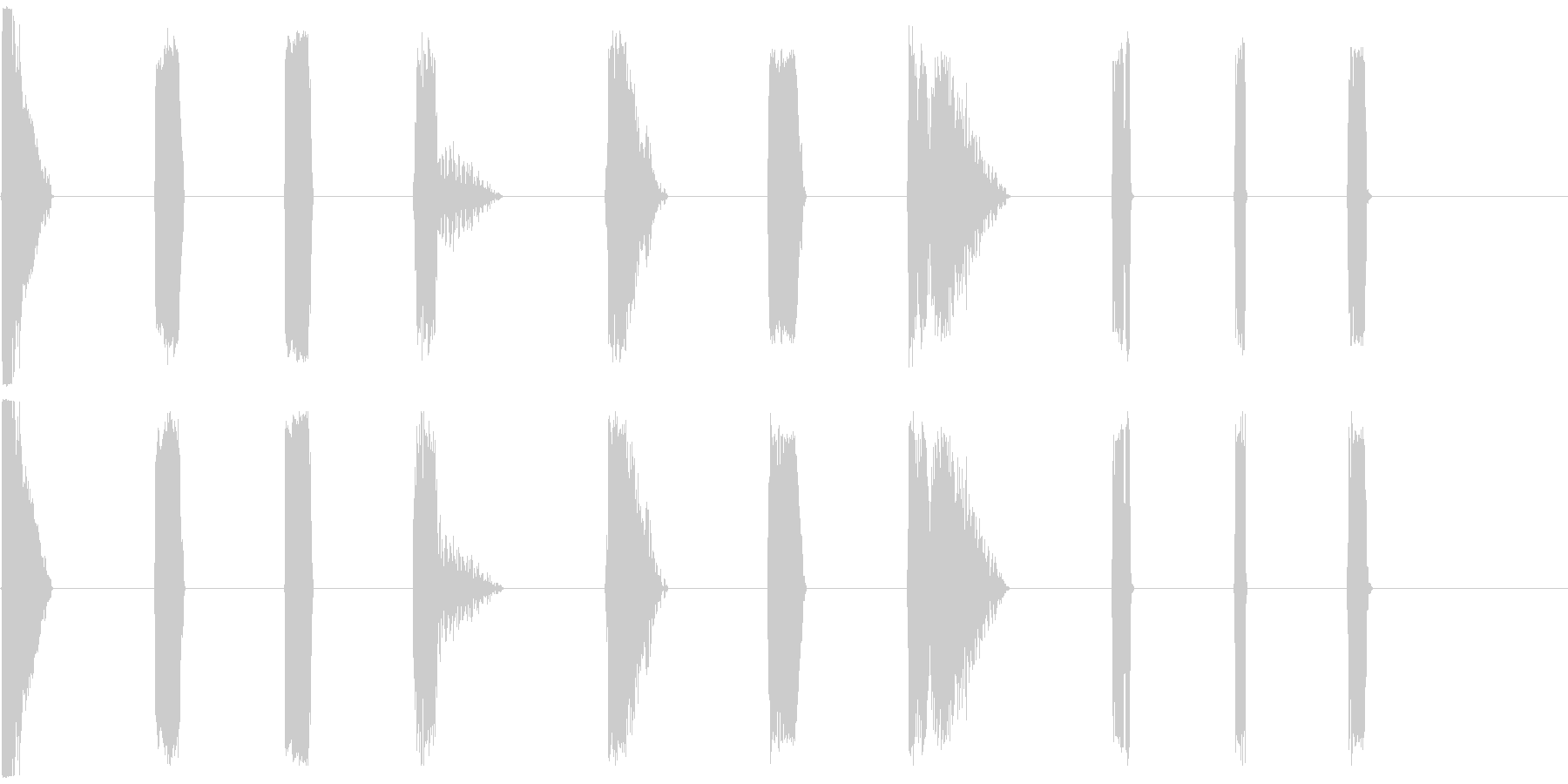 DJレーザーショット11-20の未再生の波形