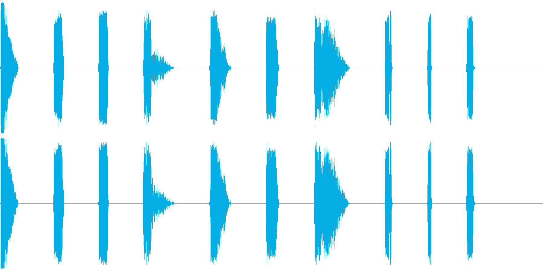 DJレーザーショット11-20の再生済みの波形