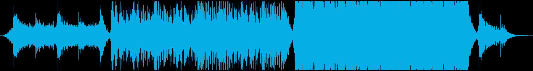 アクション映画予告編のようなパワフルな曲の再生済みの波形