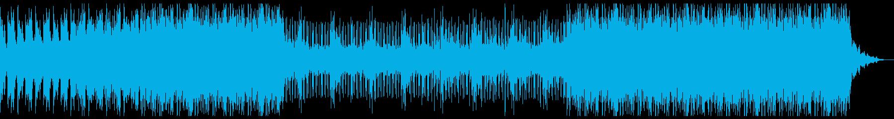 近未来的な疾走感のあるBGMの再生済みの波形