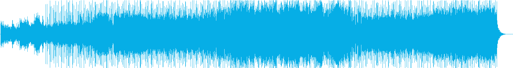薄暗い場所をイメージしたBGMの再生済みの波形