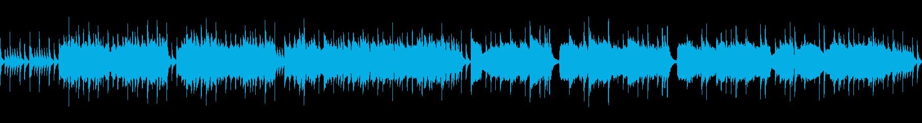 村をイメージした和楽器のBGMの再生済みの波形