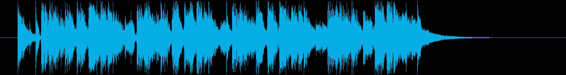 軽快なサックスのジングルの再生済みの波形