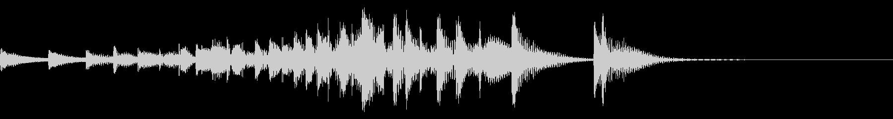 音侍「ドンドン・・」吊り太鼓の長め連打音の未再生の波形