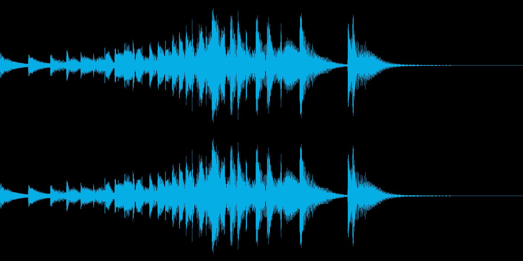 音侍「ドンドン・・」吊り太鼓の長め連打音の再生済みの波形