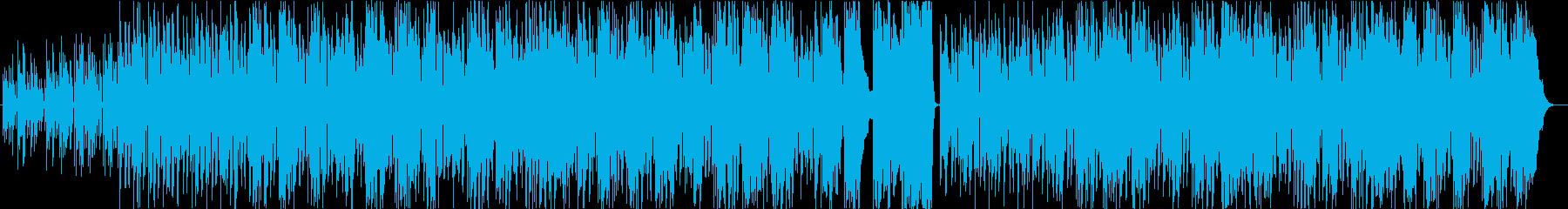 ゆったりとした気楽な響きのアコース...の再生済みの波形
