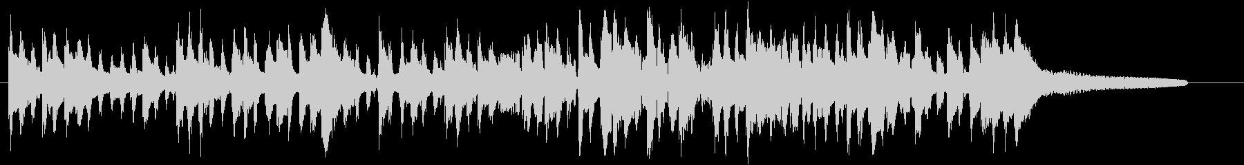 アダルトなジプシージャズのジングルの未再生の波形