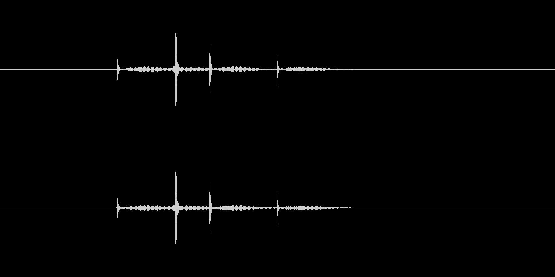 ダブルクリック(カチカチッ)の未再生の波形