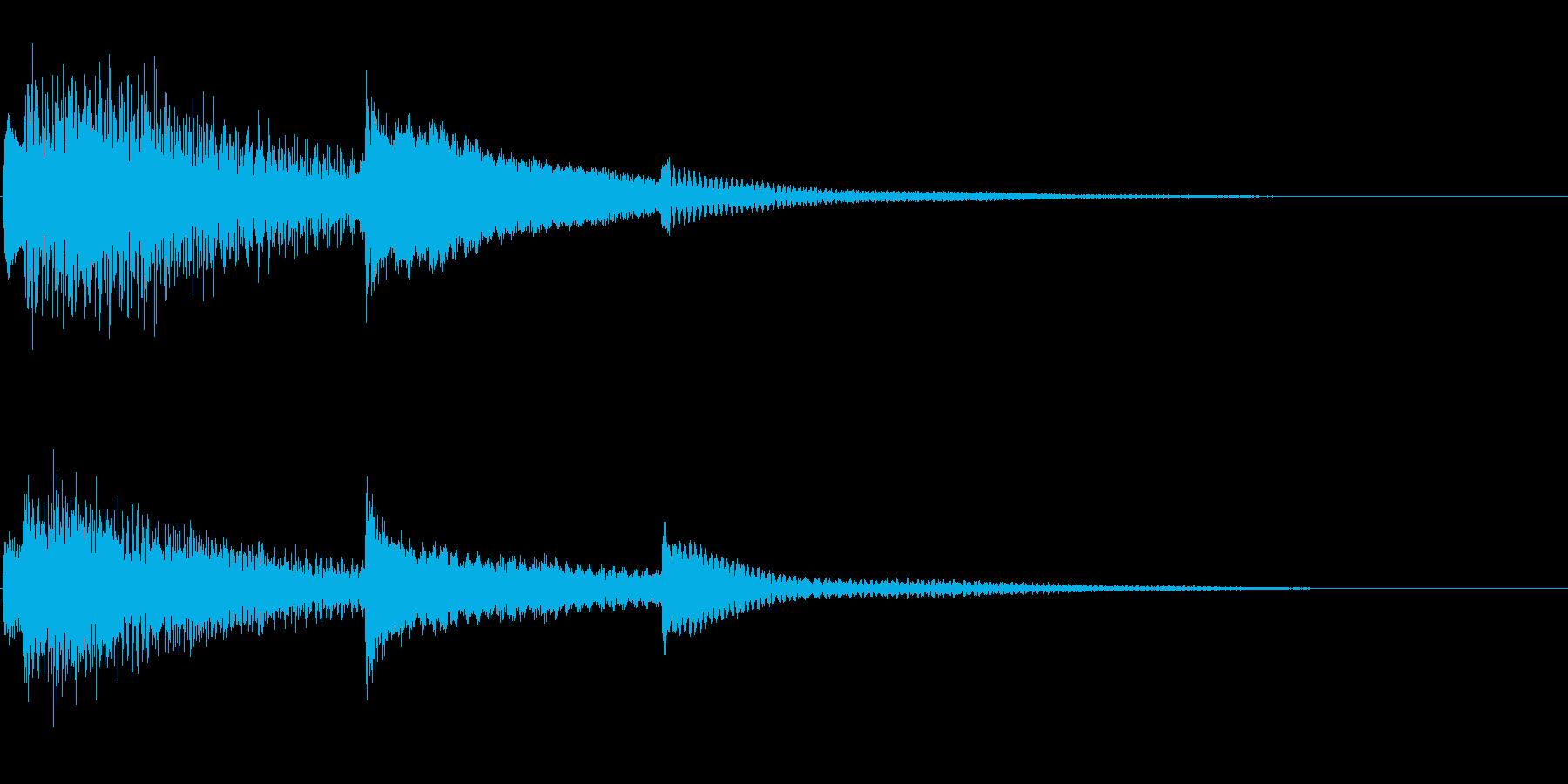 【生演奏】明るい雰囲気のピアノジングルの再生済みの波形