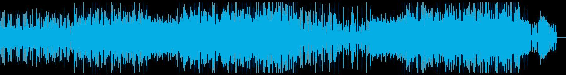疾走感のある無機質なテクノBGMの再生済みの波形