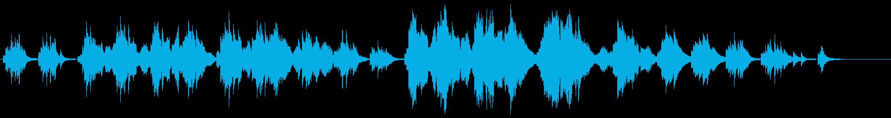 夏の星空・感動的なピアノ・バイオリン演奏の再生済みの波形