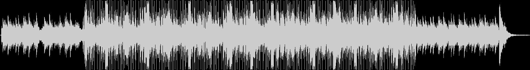 不思議な雰囲気のエレクトロニカ風BGMの未再生の波形