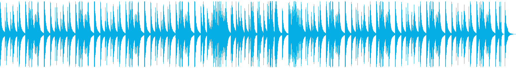 (ドラム、ベース抜き)ピアノ旋律の再生済みの波形
