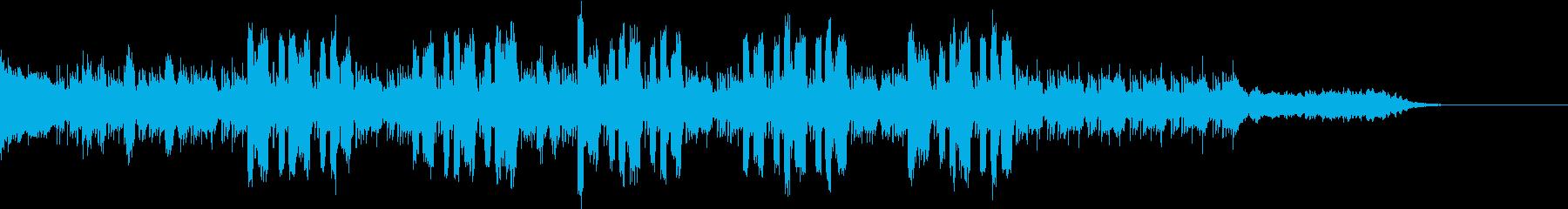 深海にいるようなイメージの再生済みの波形