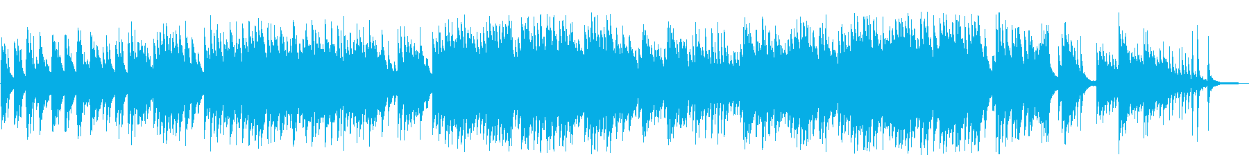 叙情的でノスタルジックなピアノBGMの再生済みの波形