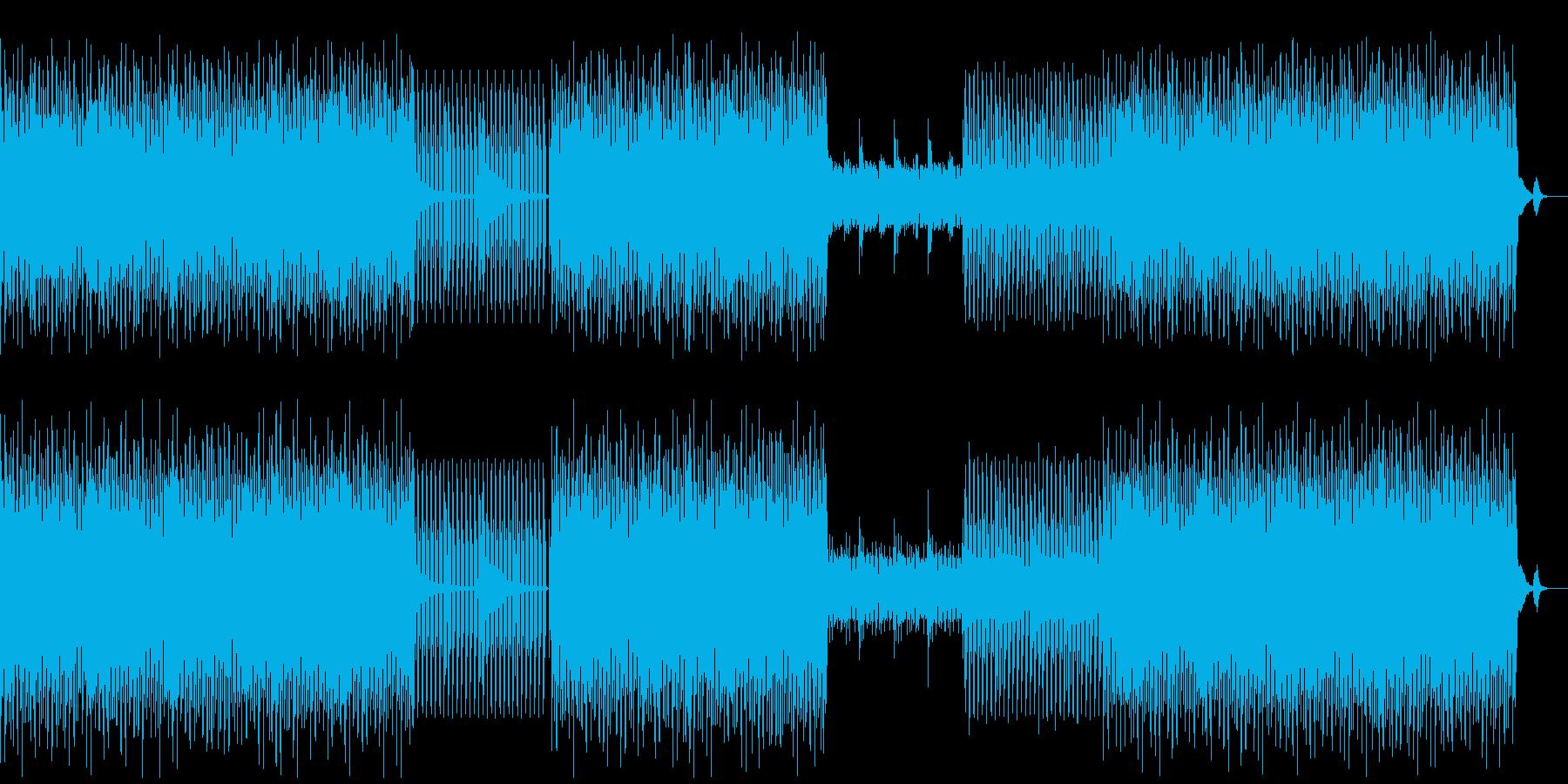 少々重めなテクノの再生済みの波形