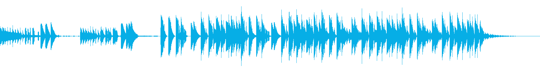 ユニークな雰囲気のループビートの再生済みの波形