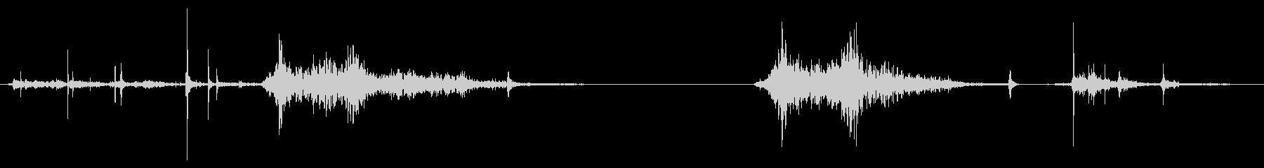 ガラス戸(引き戸)開閉の未再生の波形