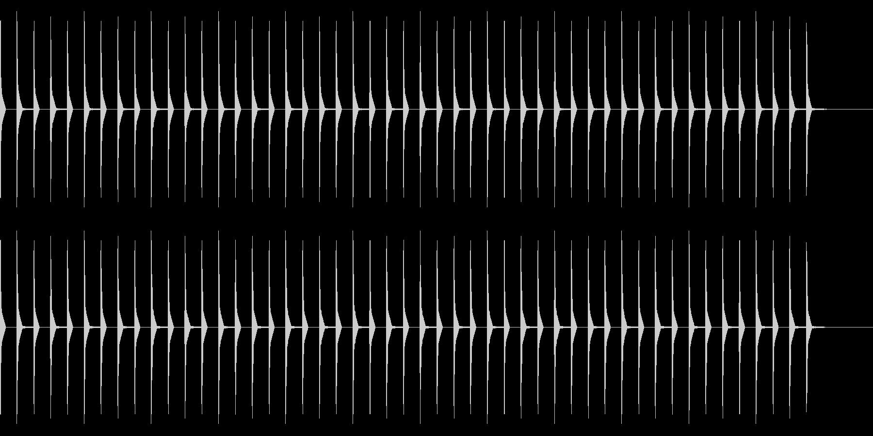 考え中(ピコピコ音 20秒)の未再生の波形