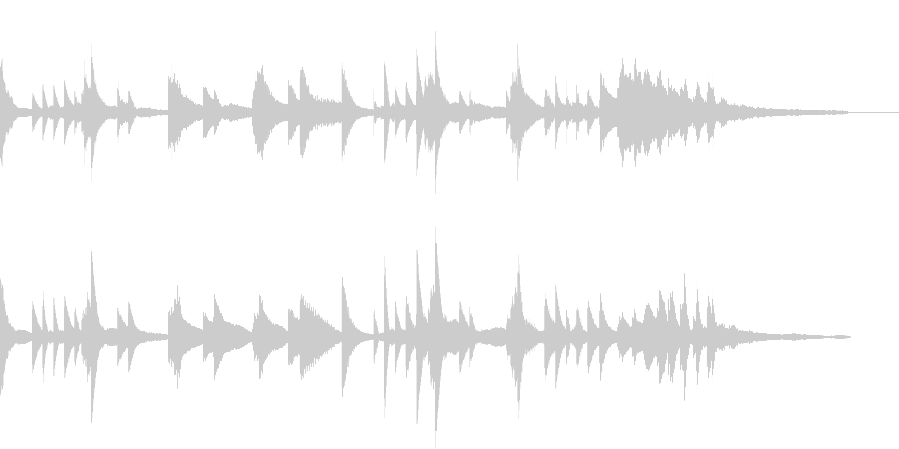 ハープっぽい神々しい幻想的ピアノジングルの未再生の波形