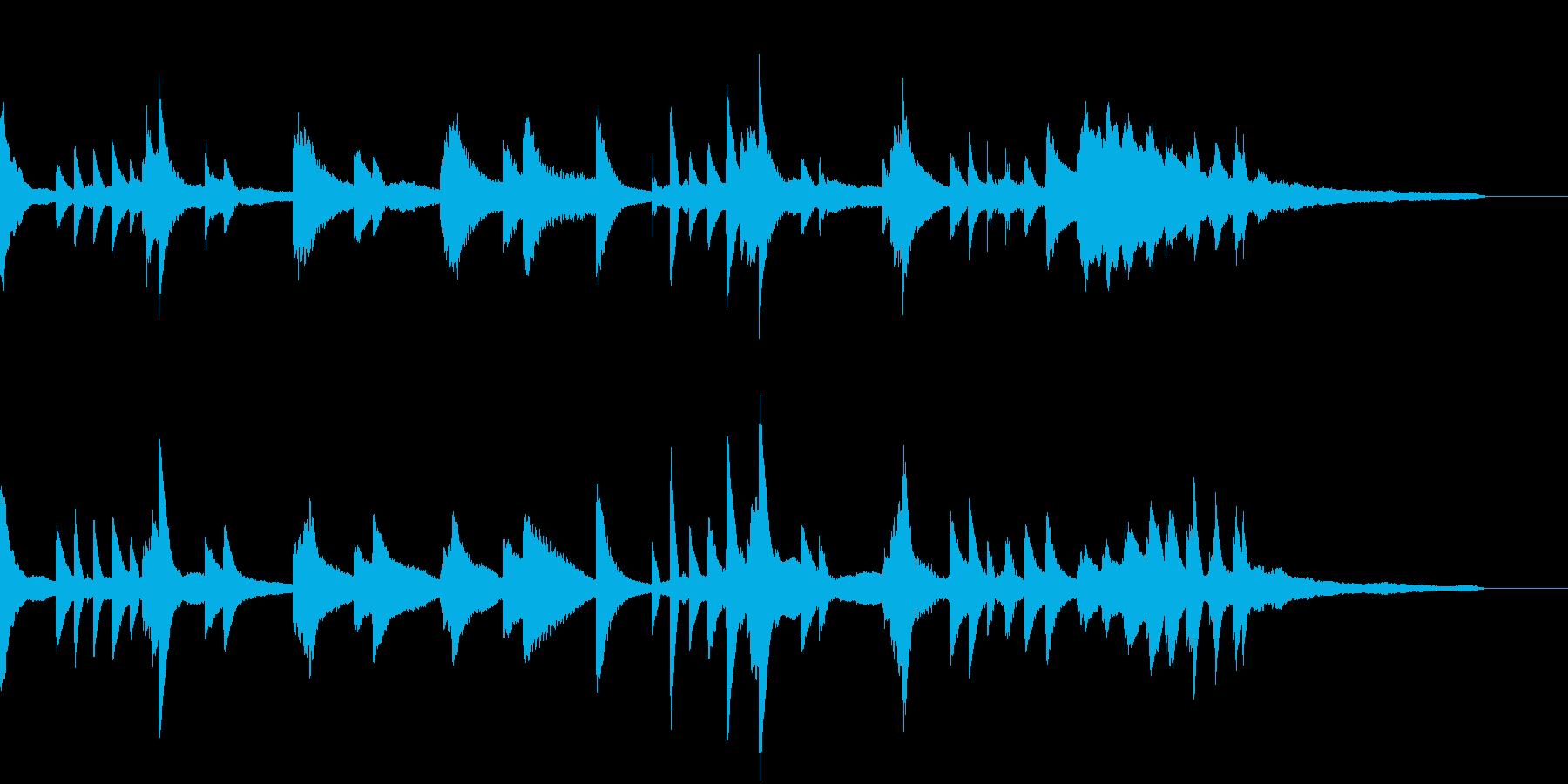 ハープっぽい神々しい幻想的ピアノジングルの再生済みの波形