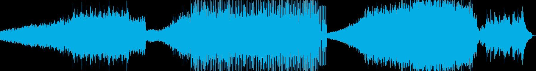 シンセシーケンスバックグラウンドの...の再生済みの波形