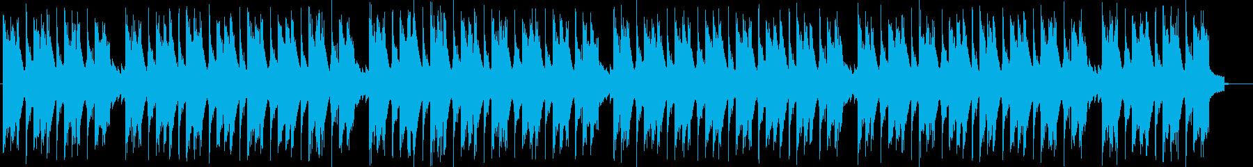 雑念を払うような落ち着くノイズの曲の再生済みの波形