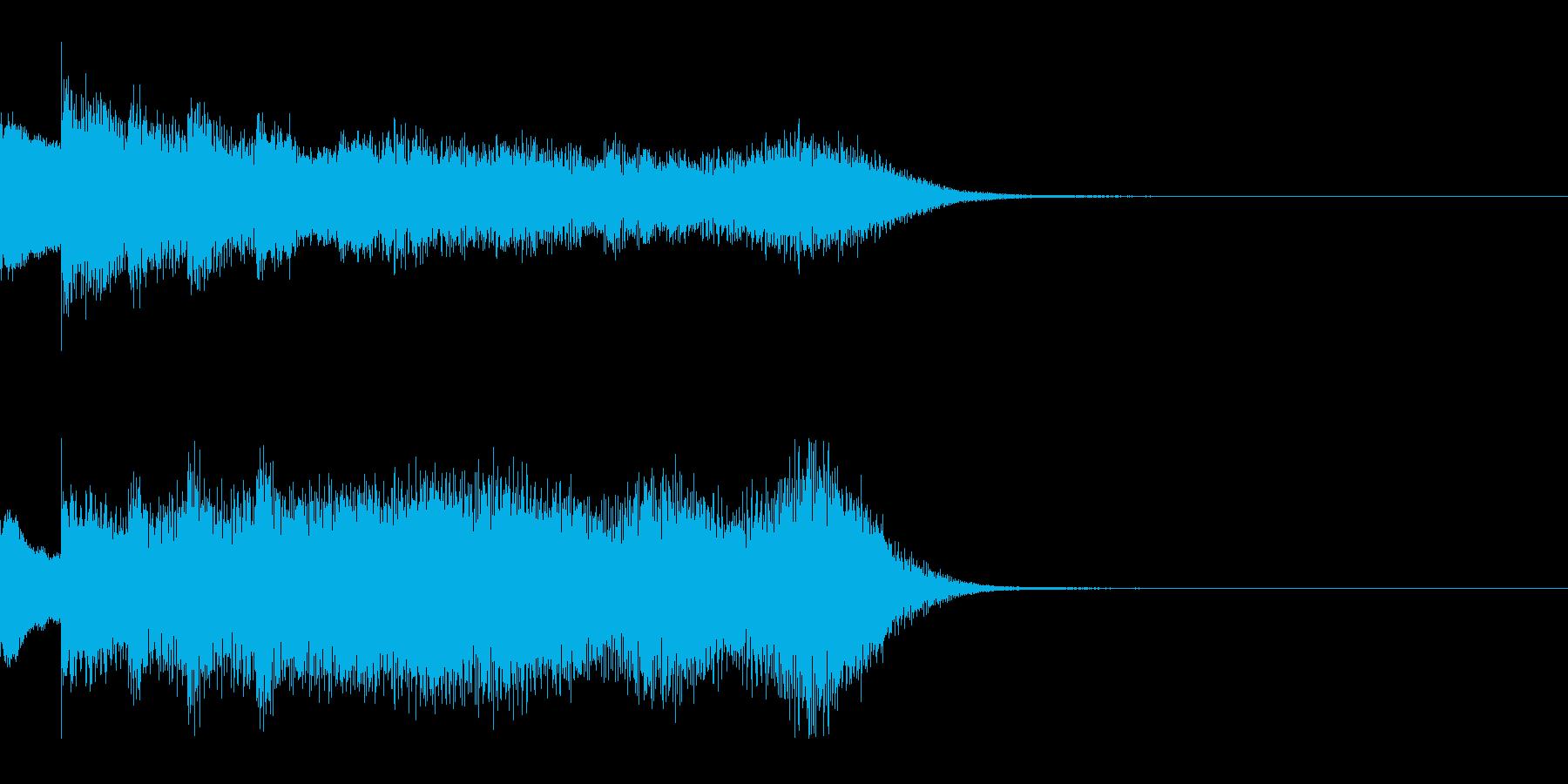 ゆっくり 現れる 登場 変化 変身 実験の再生済みの波形