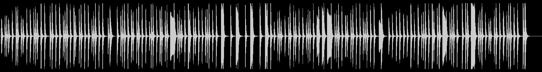 軽快で楽しげなピアノの曲の未再生の波形