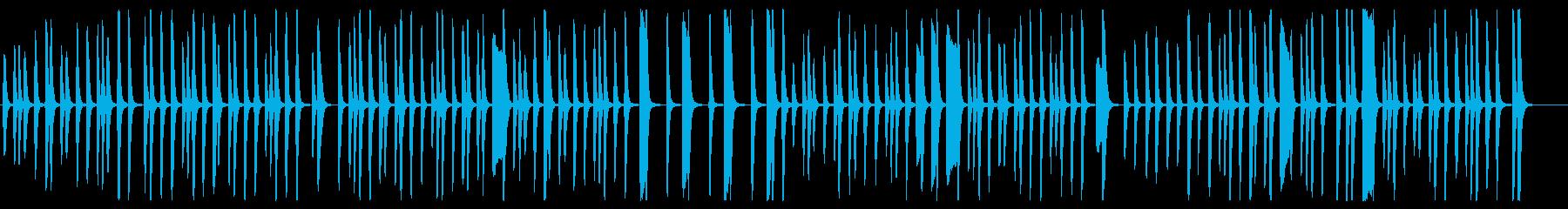 軽快で楽しげなピアノの曲の再生済みの波形