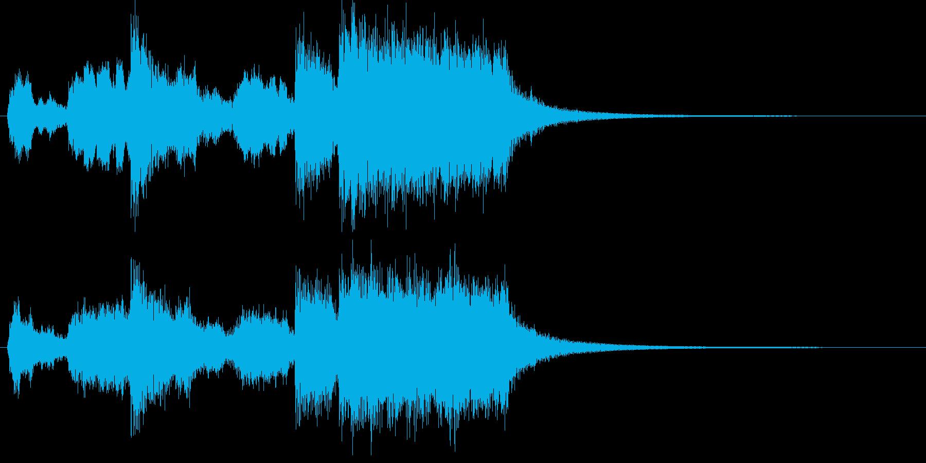 躍動感のある金管ファンファーレの再生済みの波形