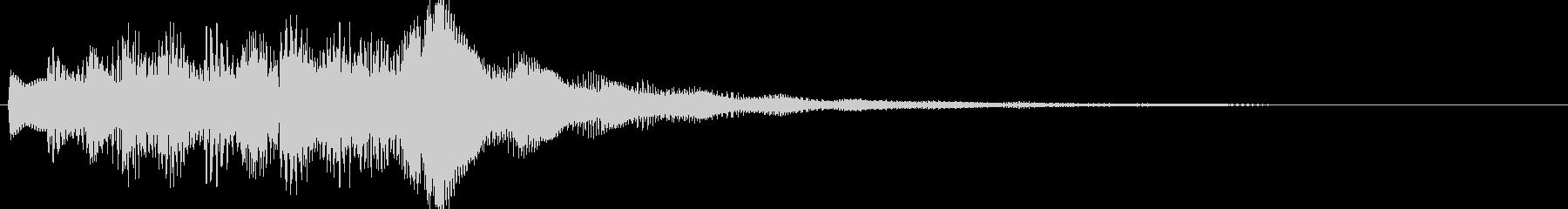 お知らせ・通知に最適なジングル効果音の未再生の波形
