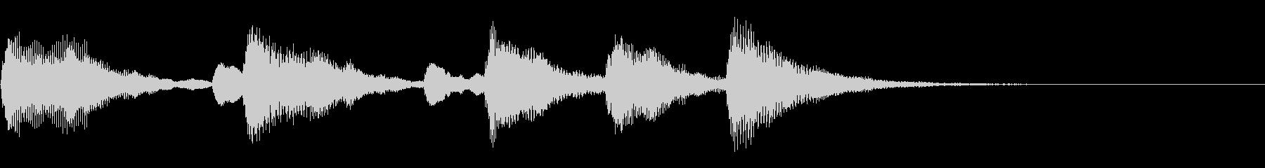 温かみのある木琴ジングルの未再生の波形