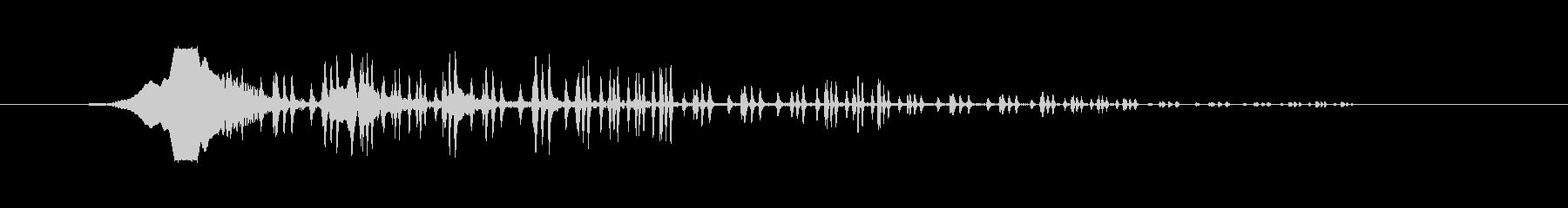 ヒューンビヨビヨ(浮き出るような音)の未再生の波形