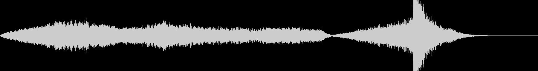 ミステリアスなホラーの曲の未再生の波形