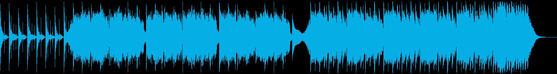 スローテンポなテクノの再生済みの波形