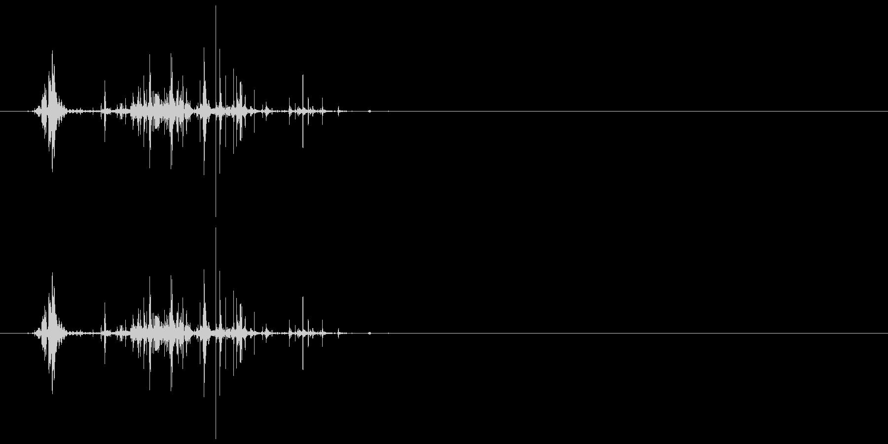ネバネバしたものを潰す音6の未再生の波形