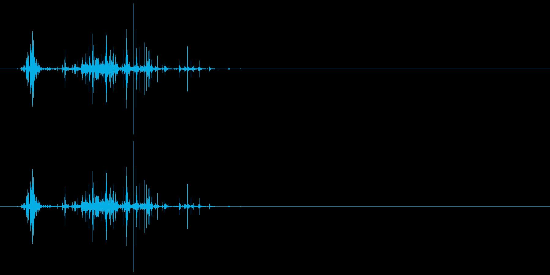 ネバネバしたものを潰す音6の再生済みの波形