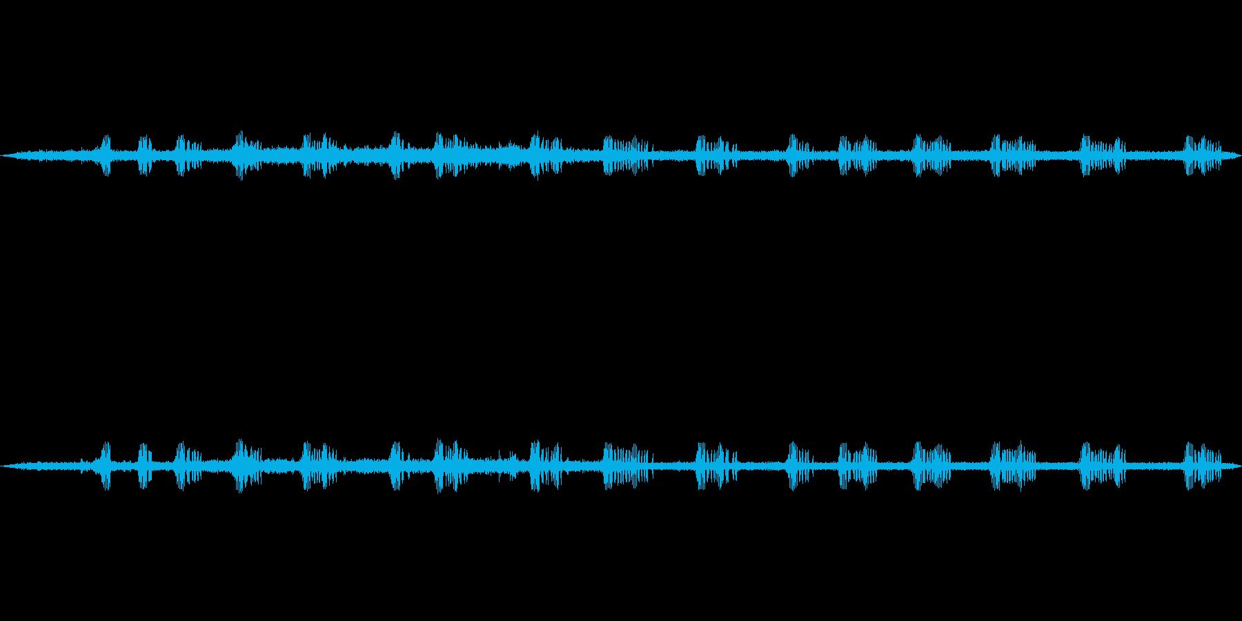 秋の虫の音の再生済みの波形