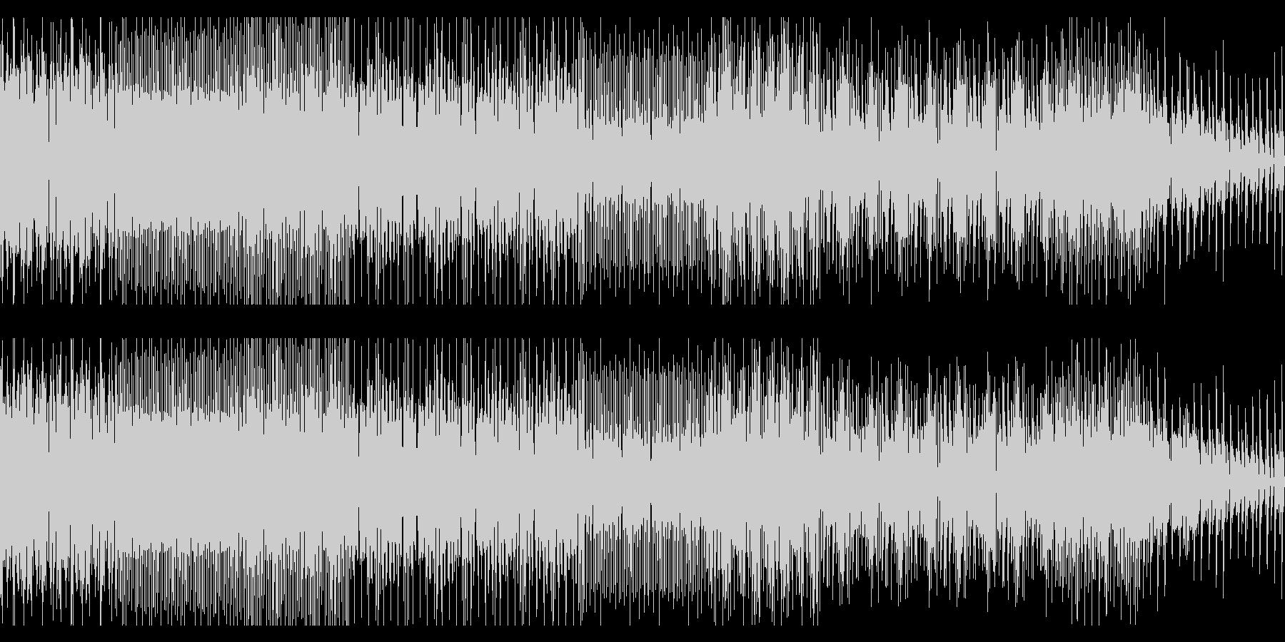 ドラムンベースのようなチップチューンの未再生の波形