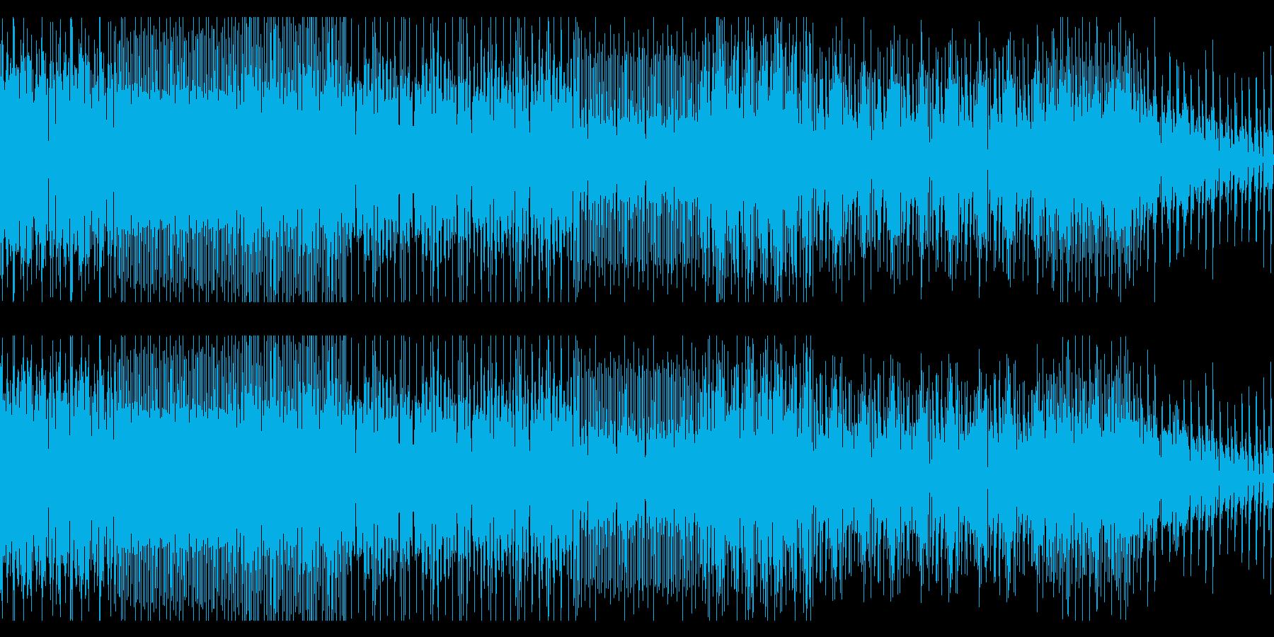 ドラムンベースのようなチップチューンの再生済みの波形